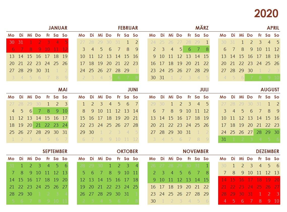 Saisonkalender 2020